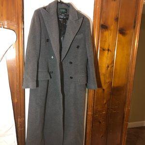 Ralph Lauren Wool Overcoat Women Size 10